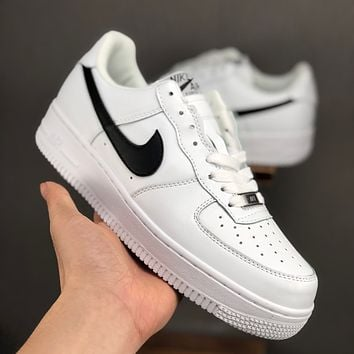 Nike Air Force 1 07 Low White Black Casual Shoes - Best Deal Online