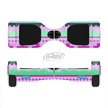 The Lime Green & Purple Tribal Ethic Geometric Pattern Full-Body Skin Set for the Smart Drifting SuperCharged iiRov HoverBoard