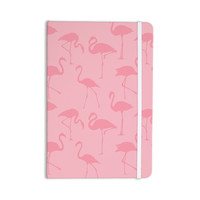 "Kess Original ""Pink On Pink"" Animals Abstract Everything Notebook"