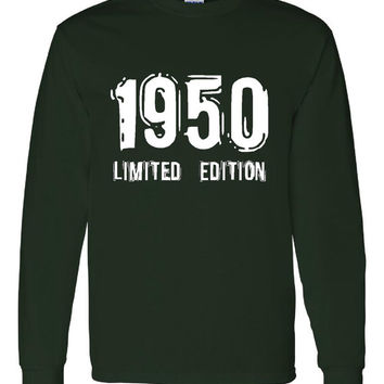 1950 Limited Edition Bday Long Sleeve Unisex T Shirt 63Th Bday Tee Great Birthday Gift Long Sleeve Happy 63th tee Shirt
