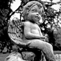 Graveyard cherub Stretched Canvas by Vorona Photography | Society6