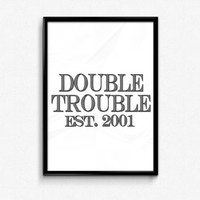 Sister Print, Double Trouble Print, Sister Gift, Sister Poster, Gift Idea Sister, Gift for her, Custom Print, Customized Print, Wall Art