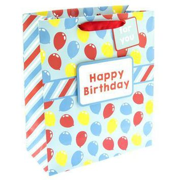 Colorful Birthday Balloons Medium Gift Bag