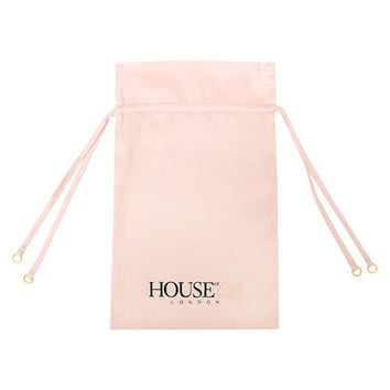 Accessories : Pink Satin Drawstring Nightwear Bag
