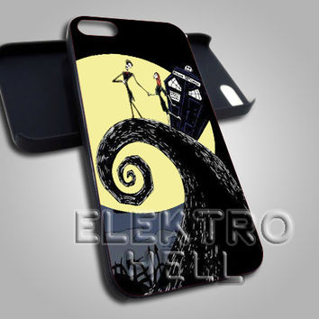 AJ 2127 Tardis Nightmare Chirstmass - iPhone 4/4s/5 Case - Samsung Galaxy S3/S4 Case - Black or White
