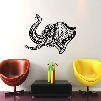 Elephant Mandala Head Vinyl Wall Decal