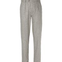 Oliver Spencer - Grey Woven-Silk Suit Trousers | MR PORTER