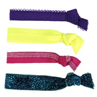 Glam Bands Sparkly Bright Hair Ties