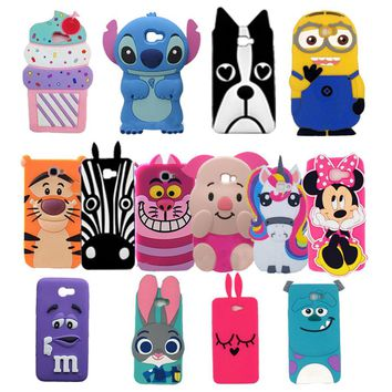 Cute 3D Cartoon Unicorn Stitch Minnie Soft Silicone Phone Case For Samsung Galaxy 2016 on 5 on5 J5 Prime on 7 on7 J7 Prime Cover