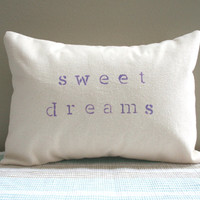 Sweet Dreams Bedroom Pillow