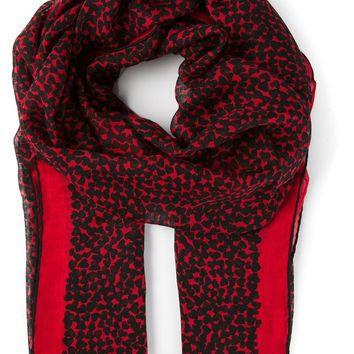 Saint Laurent heart print scarf