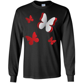 Attractive Abstract Butterflies Cut Out Of Paper 2017 T Shirt