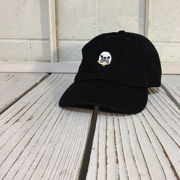 DOG Baseball Hat Low Profile Embroidered Baseball Caps Dad Hats Black