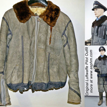 Original German WWII Channel Flight Jacket by GrandpasMarket