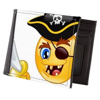 pirate emoji Mens Wallet