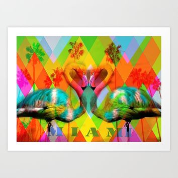 miami Art Print by hananazran