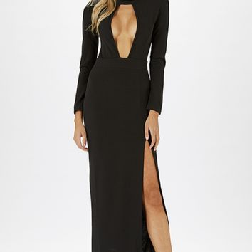 Gigi Cut Out Formal Dress - Black
