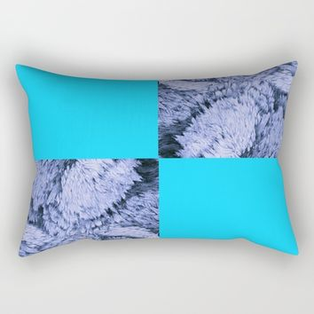 Season of the Square - Symmetry in Light Blue Rectangular Pillow by michael jon