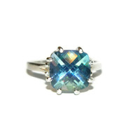 Cassiopeia Ring, Mystic Topaz, Anniversary Ring, Proposal Ring, 4.8 Carats Of Beauty