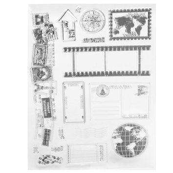 Lovley Vintage Transparent Rubber Clear Stamp Scrapbooking Craft Sheet Card Set DIY Photo Album Account Transparent Silicone