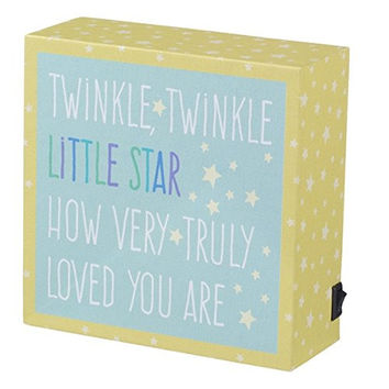 Lighted Decorative Nursery Sign Battery Operated - Twinkle Twinkle Little Star