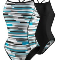 Bars and Blocks Reversible - Active Recreation - Speedo USA SwimwearSpeedo USA - WOMEN: Shop by Category: Swimwear: Active Recreation: Bars and Blocks Reversible