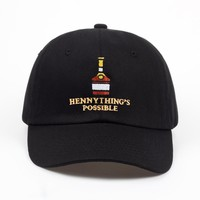"""""""hennything's possible"""" dad hat"""