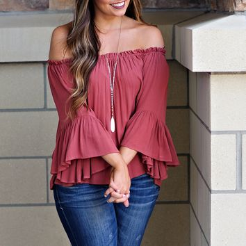 * Fairytale Off The Shoulder Top : Sunset