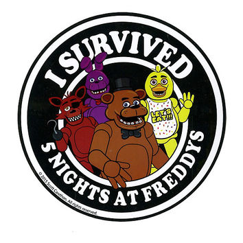 Five Nights At Freddy's I Survived Sticker