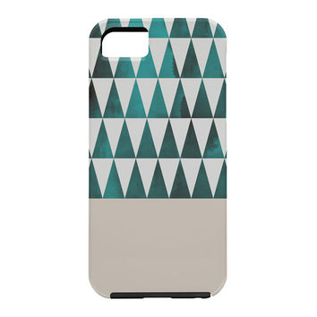 Georgiana Paraschiv Teal Triangles Cell Phone Case