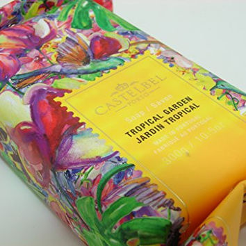Castelbel Porto Tropical Garden Luxury Bath Bar 10.5 Oz Gift Wrapped