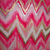Cotton Candy Original ikat chevron 36x48 Painting by Jennifer Moreman