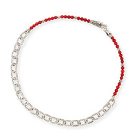 Men's Naga Red Coral Beads & Chain Wrap Bracelet - John Hardy
