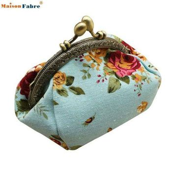 CREY8UV Naivety 2016 New Women Lady Retro Vintage Flower Small Wallet Hasp Purse Floral Clutch Bag Good For Gift JUL28 drop shipping