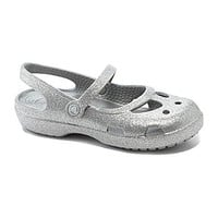 Crocs Girls' Shayna Hi Glitter Mary Jane Flats - Silver