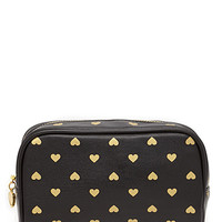 FOREVER 21 Heart Print Beauty Bag