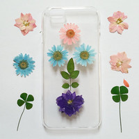 iPhone 5s Case Floral, iPhone 5 Case Clear, Pressed Flower iPhone 6s Case, samsung galaxy note 3 case, note 4 case, note 5 case,s6 case