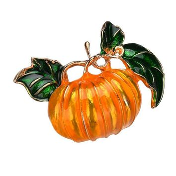 2018 New Festivel Alloy Clothing Halloween Gift Drip Brooch Pin Cartoon Pumpkin Brooch For Female Girls