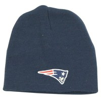 New England Patriots Classic Winter Knit Beanie Hat - Navy