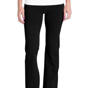 Womens Fold Over Yoga Sweat Pants