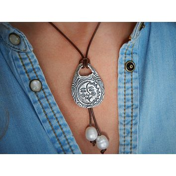 Bohemian Sun & Moon Necklace
