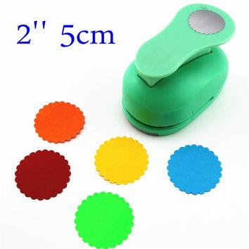 free ship large 2'' 5cm circle furador paper punches for scrapbooking craft perfurador diy puncher paper circle cutter3178