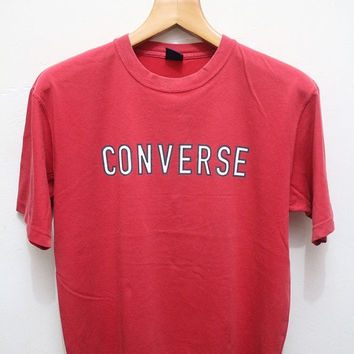 15% SALES Vintage CONVERSE T Shirt Red M