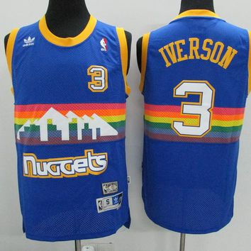 Best Deal Online Mitchell & Ness Hardwood Classics NBA Basketball Jerseys Denver Nuggets #3 Allen Iverson