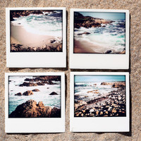 Drink Coasters Scenic California  17 Mile Drive - Set of 4 Ceramic Drink Coasters