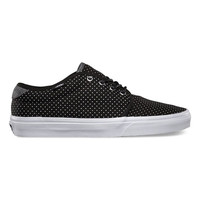 Vans Polka 159 Vulcanized Mens Shoes Black/True White  In Sizes