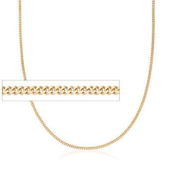 Ross-Simons - 1.5mm 14kt Yellow Gold Gourmette Chain Necklace - #815354