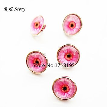 New pink 12mm Snaps small snap buttons charms jewelry SB_258