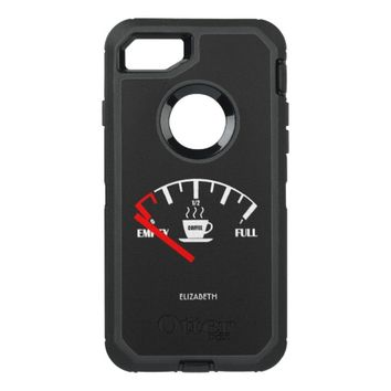 Funny Fuel Gauge Coffee Mug Time To Get Coffee OtterBox Defender iPhone 7 Case