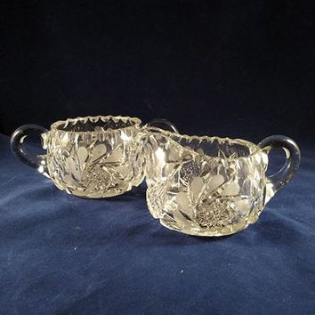 Heavy Crystal Sugar and Creamer Set